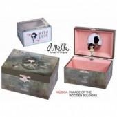 Guarda jóias pequeno musical Anekke - Modelo 2