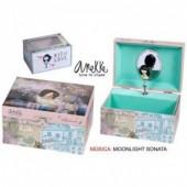 Guarda jóias pequeno musical Anekke - Modelo 4