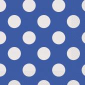 Guardanapos Azuis Bolinhas - 16 Und