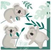 Guardanapos Koala 23cm - 16 und