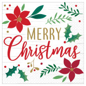Guardanapos Merry Christmas Natal 16und