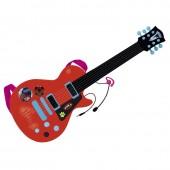Guitarra electrónica com microfone Ladybug