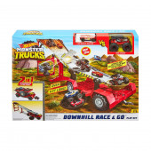 Hot Wheels Monster Trucks Downhill Race and Go