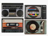 Individual Refeição Música Vintage