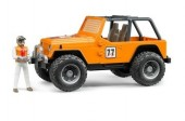 Jeep Corrida todo terreno c/ figura (laranja)