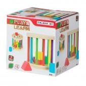 Jogo de madeira + 6 fig.geométricas - Play & Learn