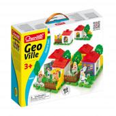 Jogo Geo Vila Puzzle técnico 60 PCS Quercetti