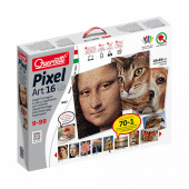 Jogo Pixel Art 25200 pcs 49x66 cm 6 cores Quercetti
