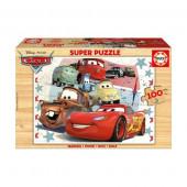 Jogo Puzzle madeira Cars Disney 100 pçs