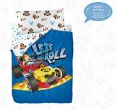Jogo  Saco Cama Lençóis Mickey Let´s Roll (Solteiro)