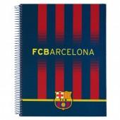 Kit 3 cadernos argolas A4 FC Barcelona Stadium