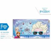 Kit acessórios de cabelo, jóias e óculos de sol 3D Frozen