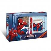 Kit com diário + caneta  + caneca cerâmica Spiderman