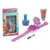 Kit Cosmética Unhas Princesas Disney 4 pç