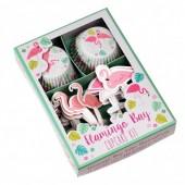 Kit Cup Cakes + Toppers Baía do Flamingo