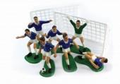 Kit  decoração de bolo Jogadores de Futebol azuis
