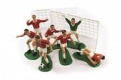 Kit  decoração de bolo Jogadores de Futebol vermelhos