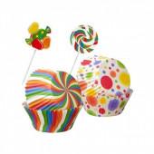 Kit Formas de Papel Cup Cake + Palito Decorativo Wilton