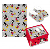 Kit Pantufa e Manta  Mickey Mouse