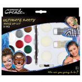 Kit Pinturas Faciais Ultimate Party - 21 pcs