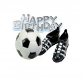 Kit Topper Futebol Happy Birthday