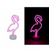 Lâmpada Flamingo Rosa Neon