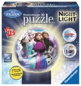 Lâmpada Puzzle 3d de 72 peças Frozen - Night Light
