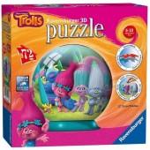 Lâmpada Puzzle Bola 3D Trolls - 72 peças