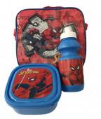Lancheira + Garrafa + Caixa Spiderman