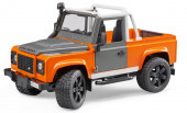 Land Rover Defender Pick Up Laranja Bruder