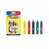 Lápis Cera Banho 5 Cores Colorino