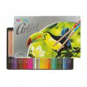 Lápis Cor em Caixa Metálica Artist 36 Cores Colorino