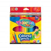 Lápis Cor Hexagonal 24 Cores Colorino