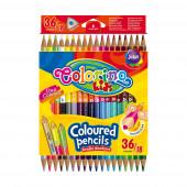 Lápis Cor Triangular 18 Pcs / 36 Cores Colorino
