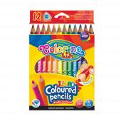 Lápis Cor Triangular Jumbo 12 Cores Colorino