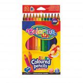 Lápis Cor Triangular Jumbo 12 Cores com Afia Colorino