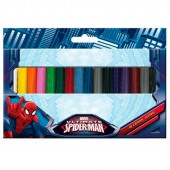 Lápis de cera 18 cores Ultimate Spiderman Marvel