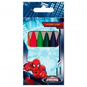 Lápis de cera 6 cores Ultimate Spiderman Marvel
