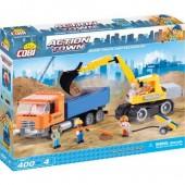 Lego Cobi  Camião e Retro-escavadora