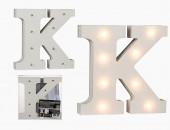 Letra K Luminosa com Leds