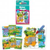 Livro Colorir Galt Water Magic Safari