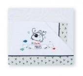 Love Piratas - Jogo cama bebé 60x120cm