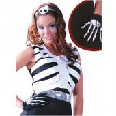 Luvas Esqueleto Halloween