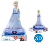 Luz Presença Figura 3D Elsa Frozen 2