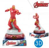 Luz Presença Figura 3D Iron Man Avengers