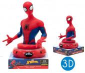 Luz Presença Figura 3D Spiderman Marvel