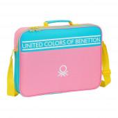 Mala Extra Escolar Benetton Color Block 38cm