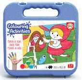 Mala Puzzle 20 peças Capuchinho Vermelho Colouring Activities