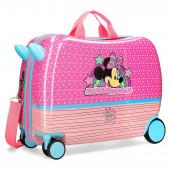 Mala Trolley Viagem ABS 50cm Minnie Pink Vibes