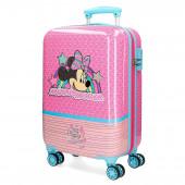 Mala Trolley Viagem ABS 55cm Minnie Pink Vibes